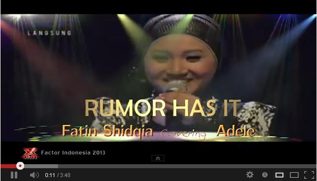 adele feat fatin rumor has it image