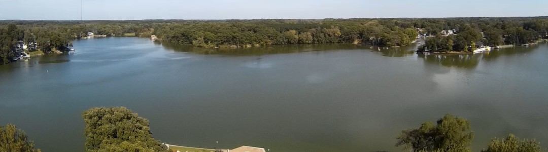 Aerial View of the Lake we are on
