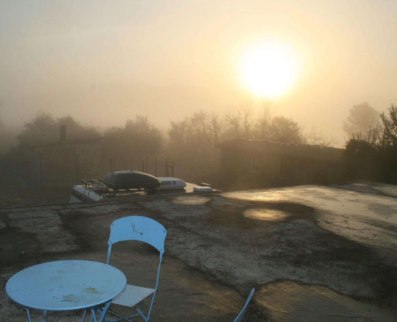 Post storm, misty start