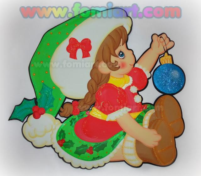 Decoraciones para navidad en foamy