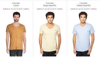 Camisetas básicas de colores
