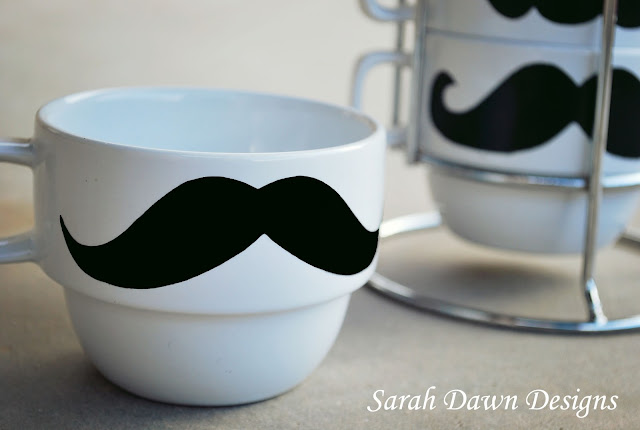 Fun and easy DIY mustache mug