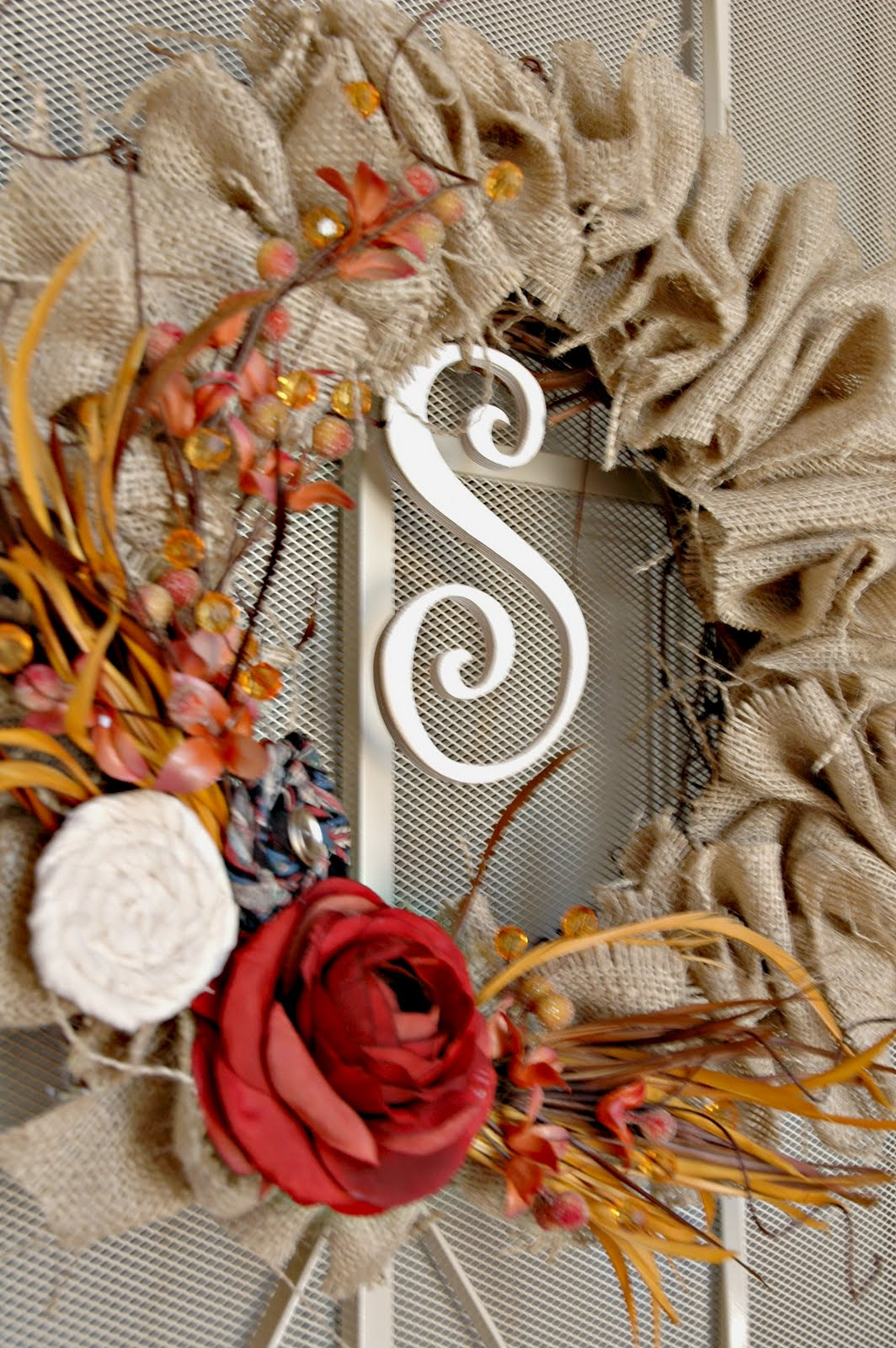 Sweet Passions On A Thrifty Dime Fall Wreath With Burlap