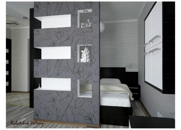 Дизайн комнаты 18 кв м с нишей