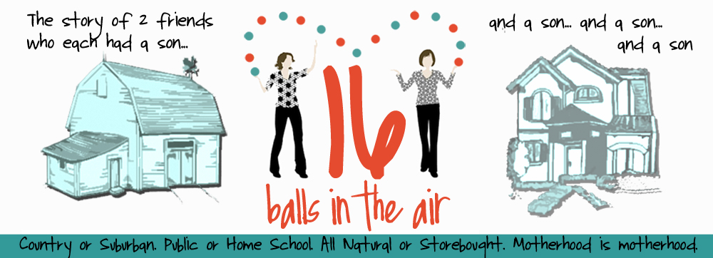 16 Balls in the Air- Motherhood is Motherhood.