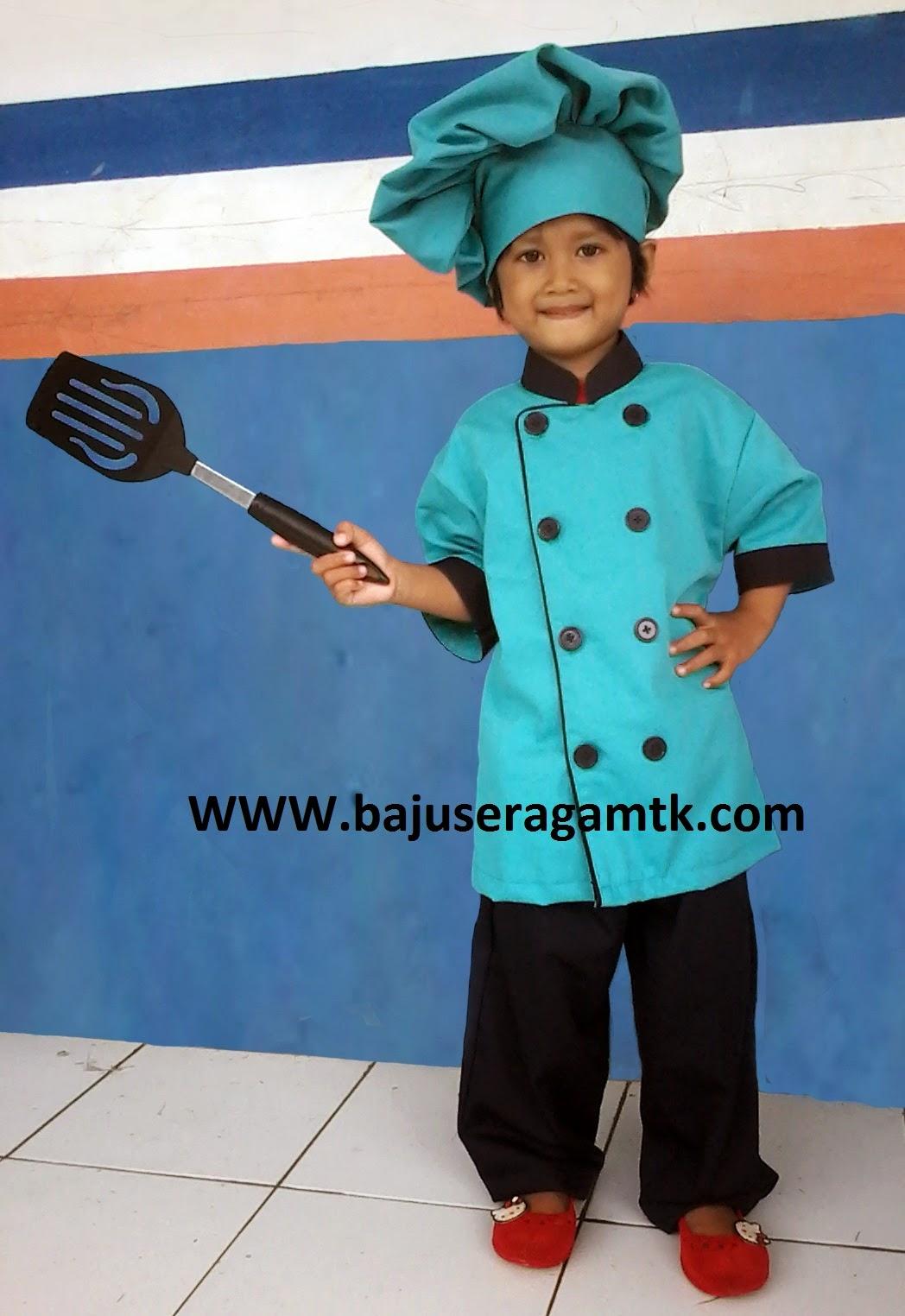 jual kostum anak baju koki anak baju chef anak baju profesi anak