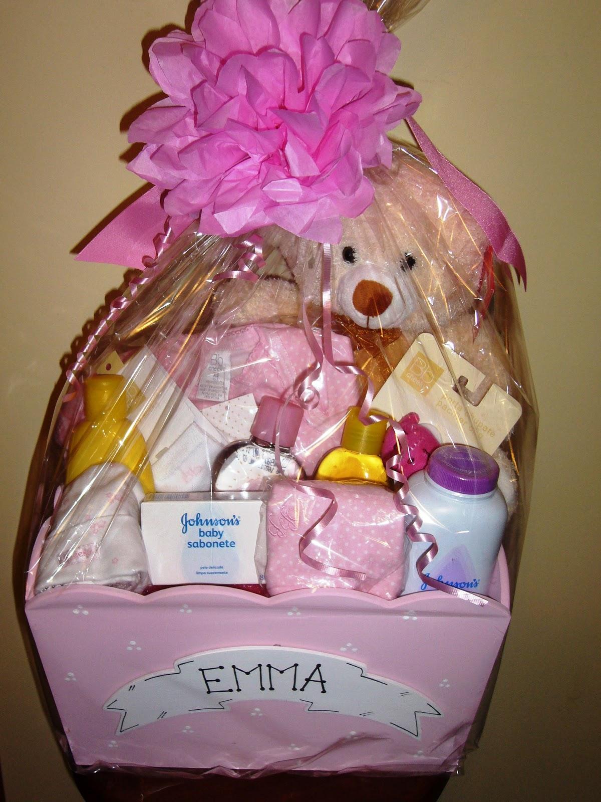Canastas decoradas para baby shower - Imagui