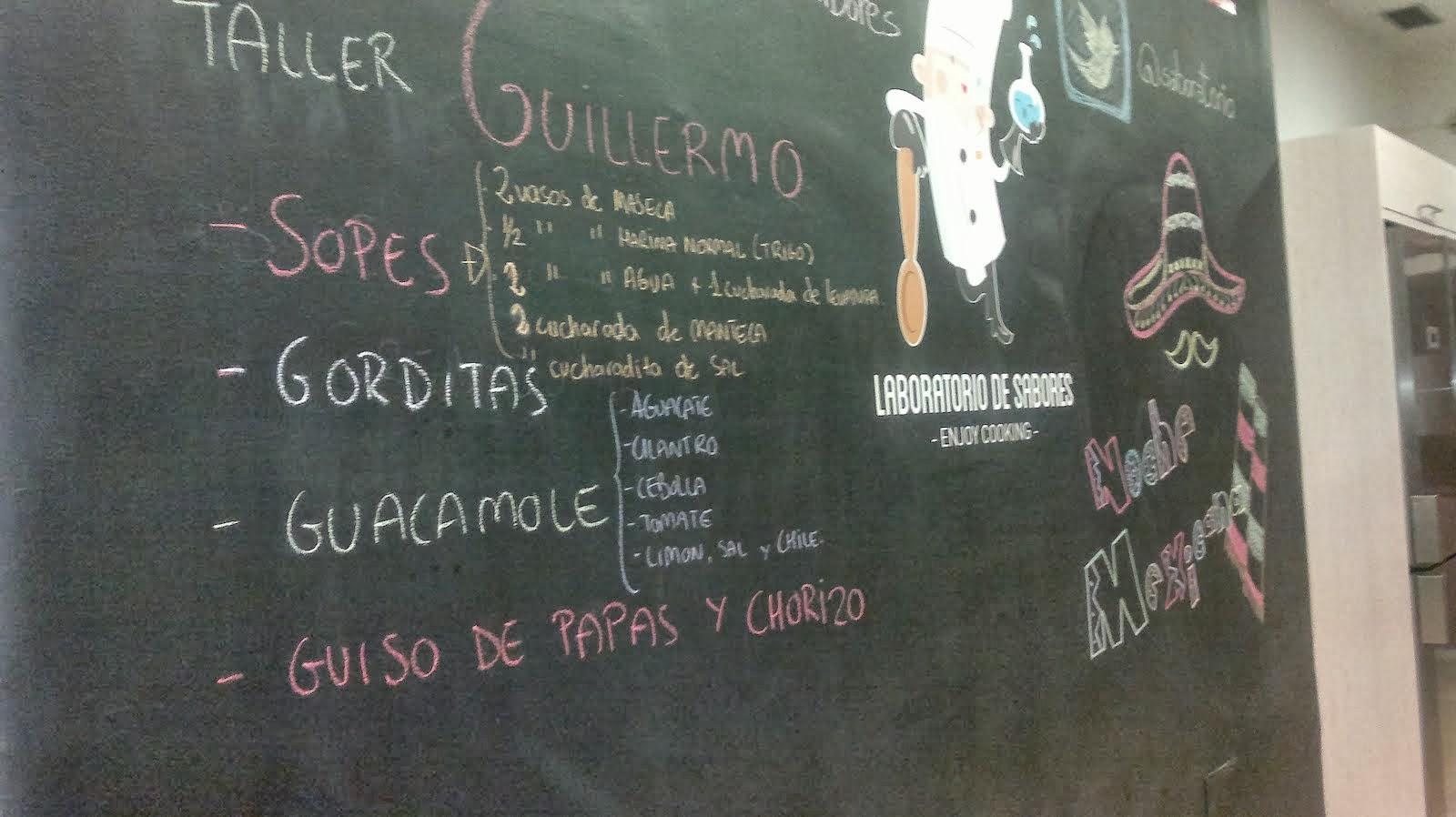 Menú mexicana