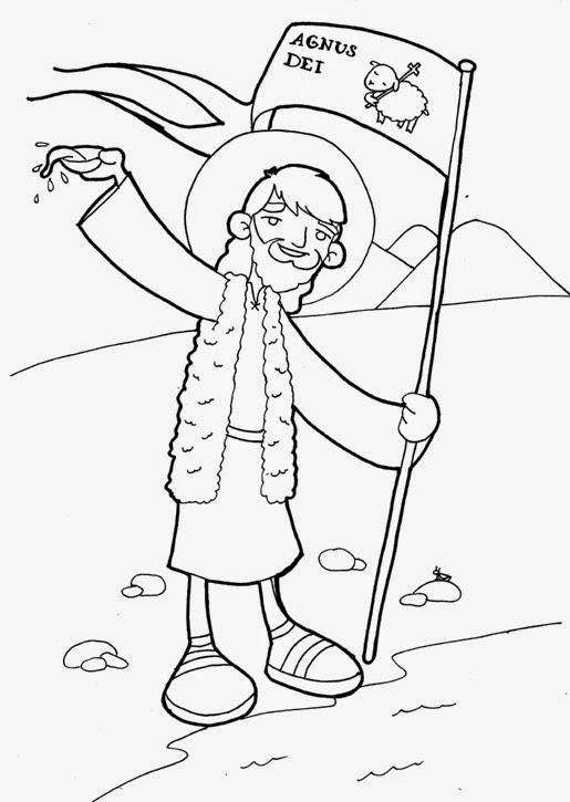 Dibujos para catequesis: SAN JUAN BAUTISTA
