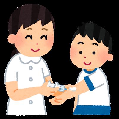 生活習慣予防検診のイラスト(学校の健康診断)