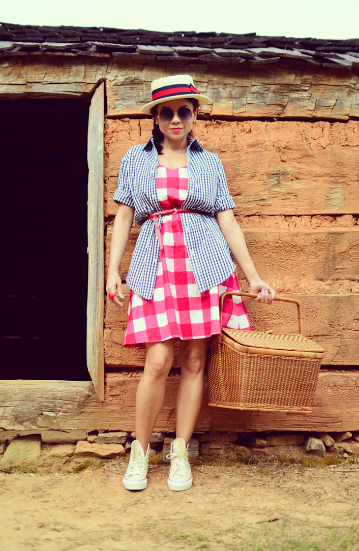 Gingham Dress Outfit