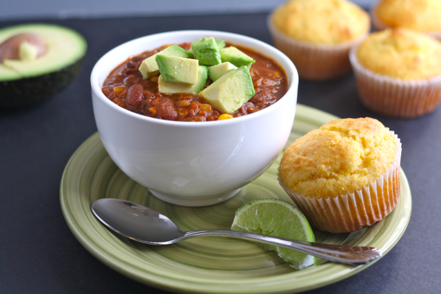 25-Minute, Healthy Vegetarian Bean Chili