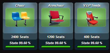 seats หรือที่นั่งคนดู