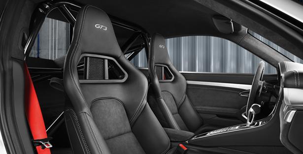 Detalle automóvil Porsche 911 GT3 2013, asientos