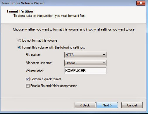 Cara Membuat Partisi di Windows 7