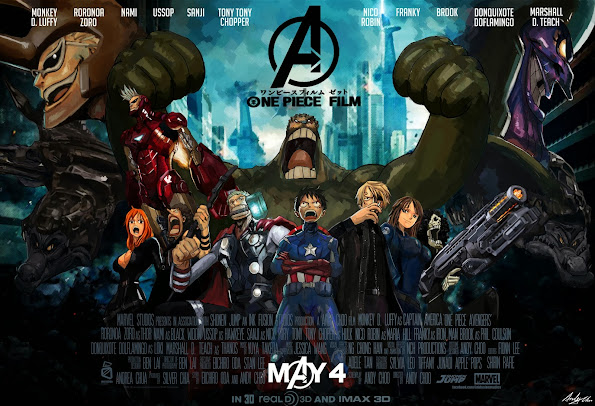 One Piece Avengers hd wallpaper