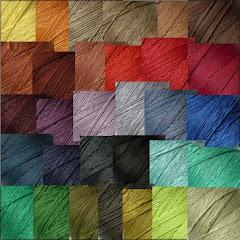 Kolorowe sznurki lniane