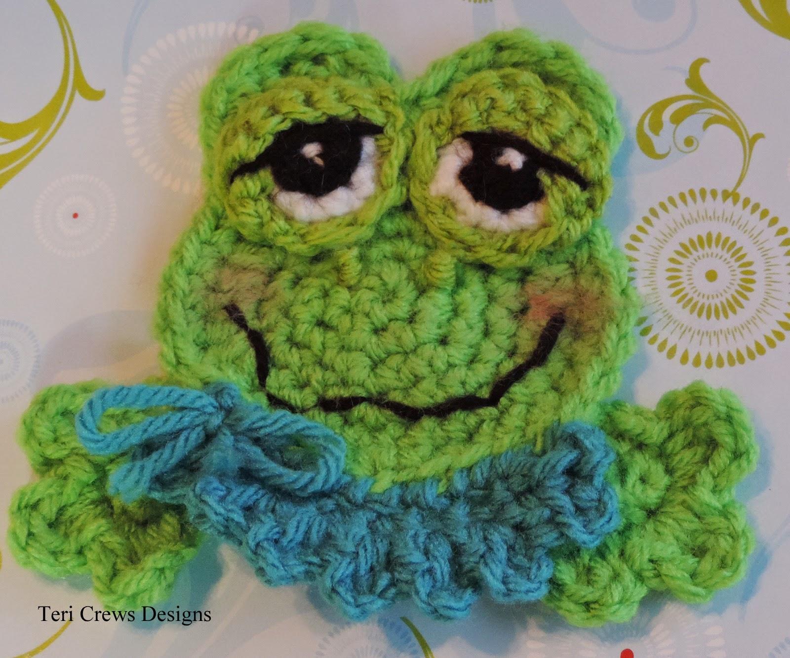 Teris blog new cute frog applique crochet pattern cute frog applique crochet pattern available bankloansurffo Gallery
