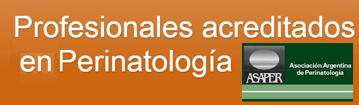 Profesionales acreditados en Perinatología
