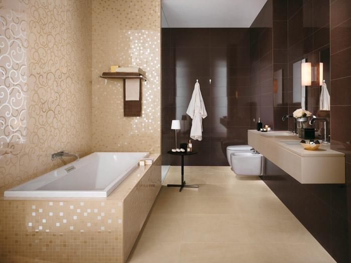 Decoracion Baños Colores:Baños de color marrón chocolate – Colores en Casa