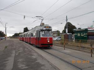 The tram to Zentralfriedhof  cemetery in Vienna.
