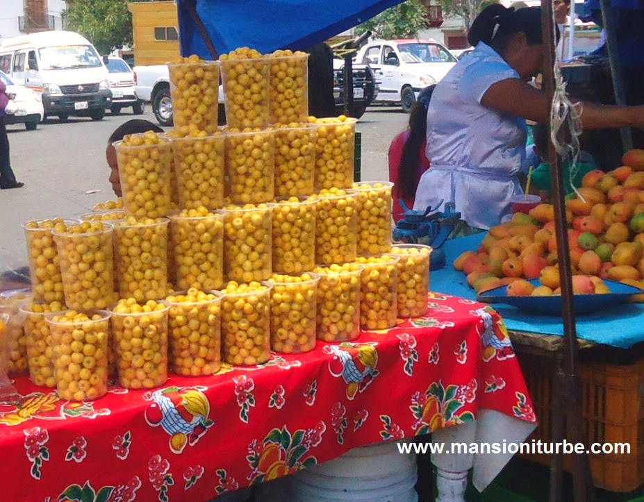 Changungas small yellow pungent fruit that you can buy at Patzcuaro Market