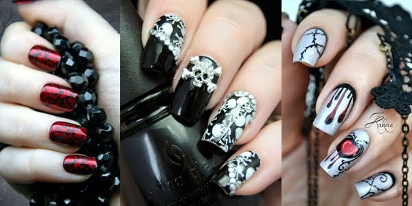 Great Gothic Nail Art Ideas! - Great Gothic Nail Art Ideas! - OMG Love Beauty!