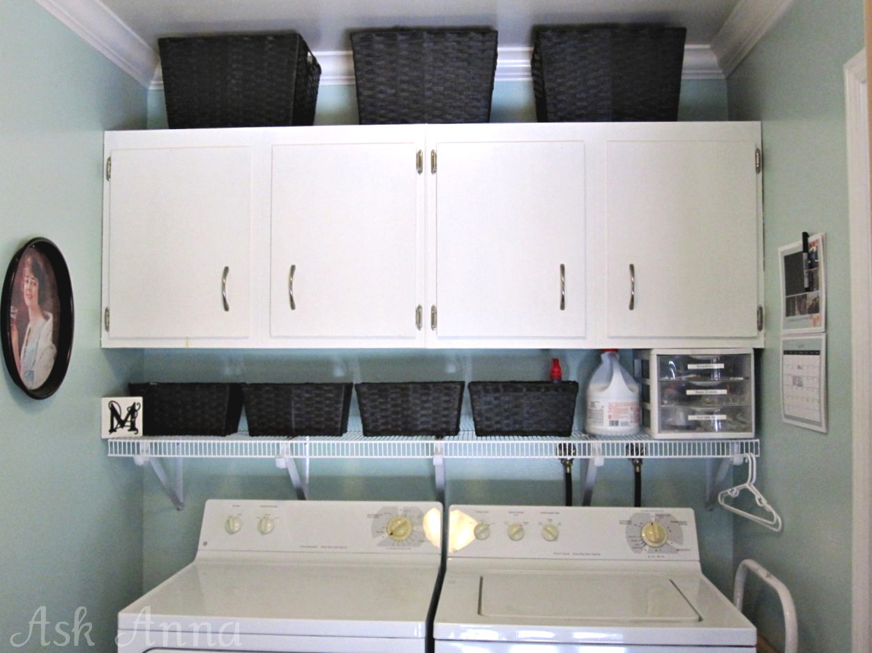 Hems and haws cabinet revelation - Laundry room organizing ideas ...