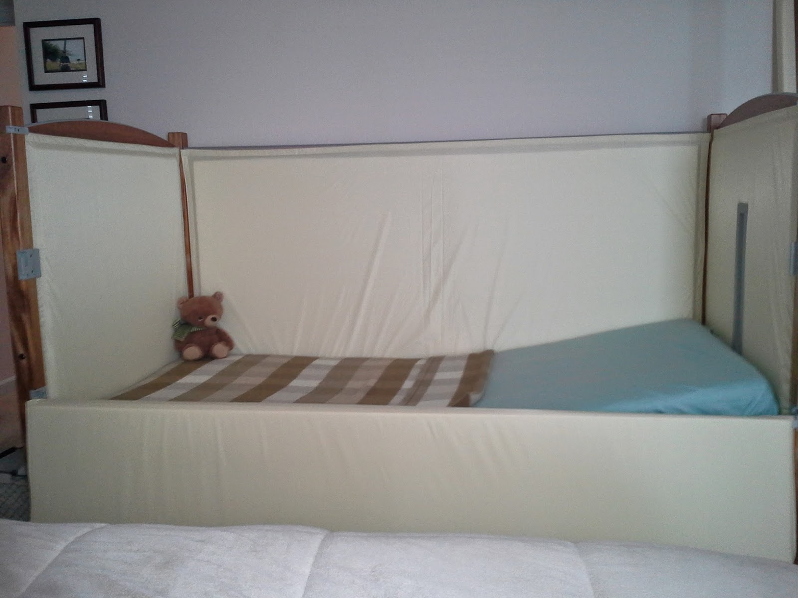 "Inside view of a ""sleep safer bed"" for special needs"