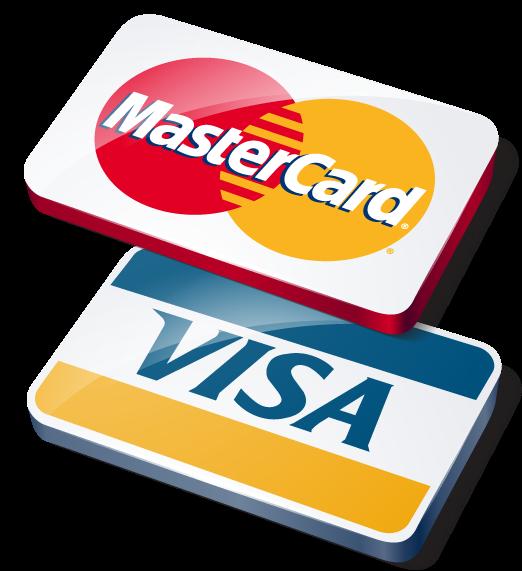 Aceitamos Visa e MasterCard