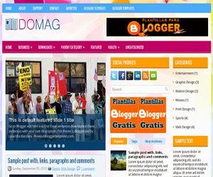 plantilla blogger Domag