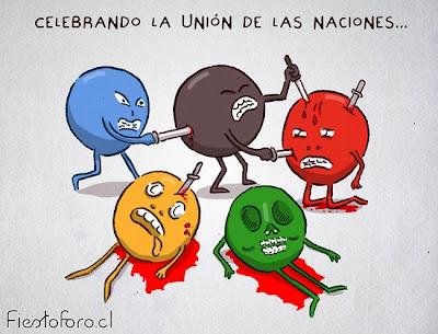 El espíritu de unión de los pueblos, cuando en realidad se matan entre todos...