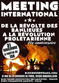 Dalla rivolta delle Banlieues alla rivoluzione proletaria