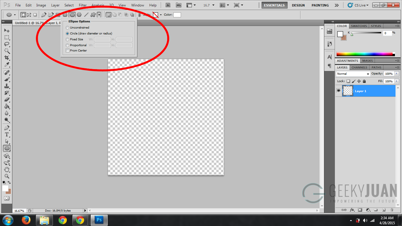 How to Create Perfect Circles in Photoshop CS5 - Geeky Juan