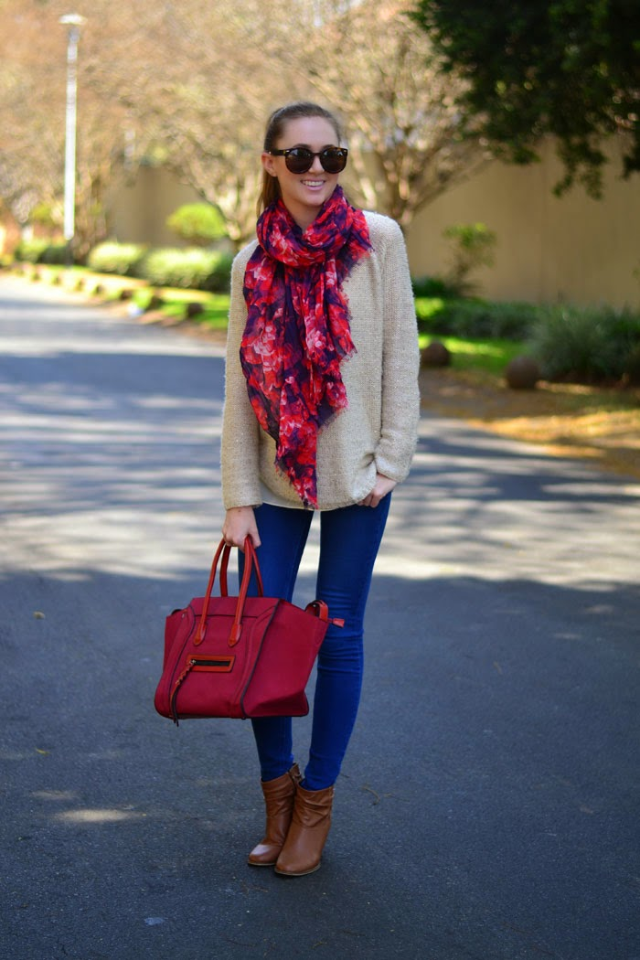 Zara jeans, Blackcherry bag