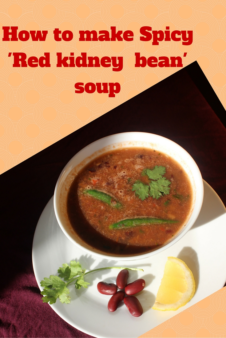 HOW TO MAKE SPICY RED KIDNEY BEAN SOUP