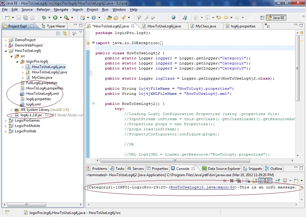 How to use log4j in any Java Project, Log4j Tutorial   Mixture ...
