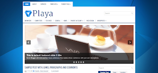 Playa Blogger Template is a Clean And Simple Wordpress To Blogger Converted Free PRemium Blogger Template