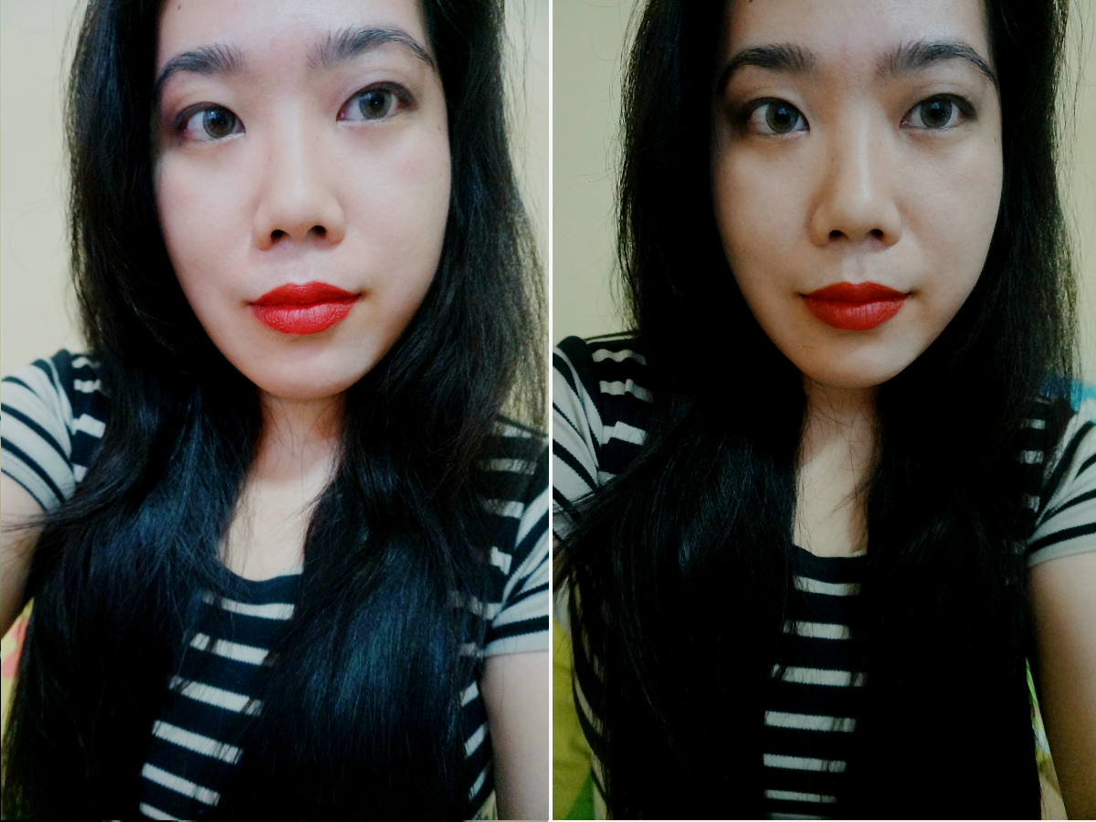 FOTD with Revlon Matte Lipstick in In The Red