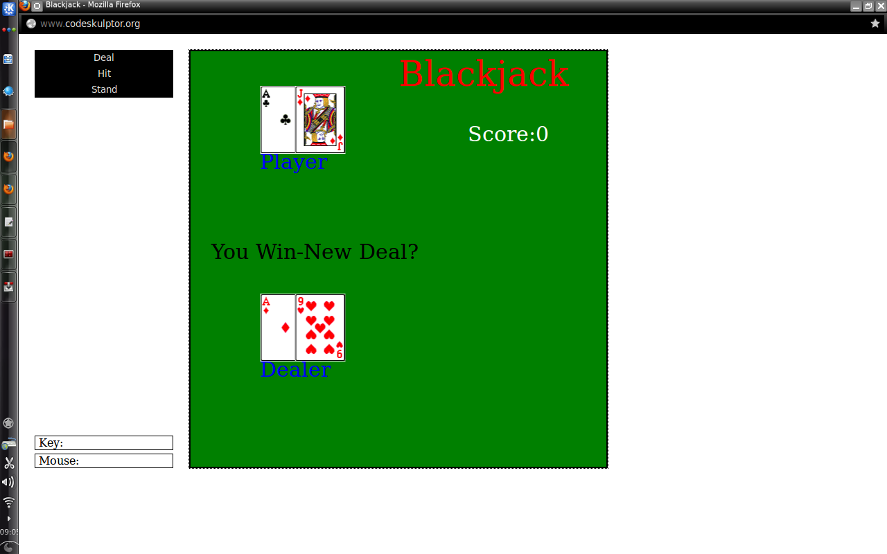 Blackjack simplegui