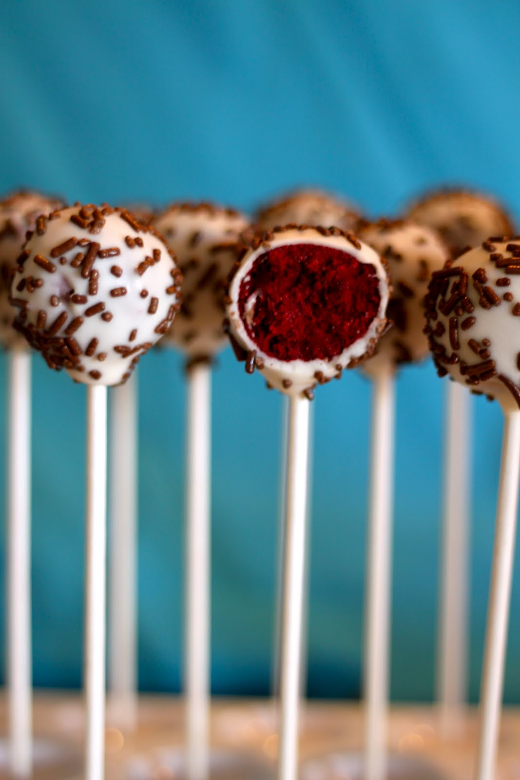 Domestic Charm: Red Velvet Cake Pops