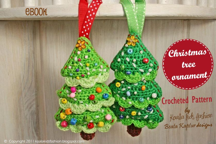 Crochet Xmas Ornaments : cute crochet christmas tree decoration right in time for holidays this ...