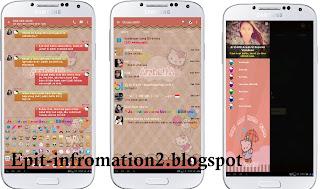 BBM Mod Hello Kitty Versi 2.11.0.18 Bisa Tulisan Warna