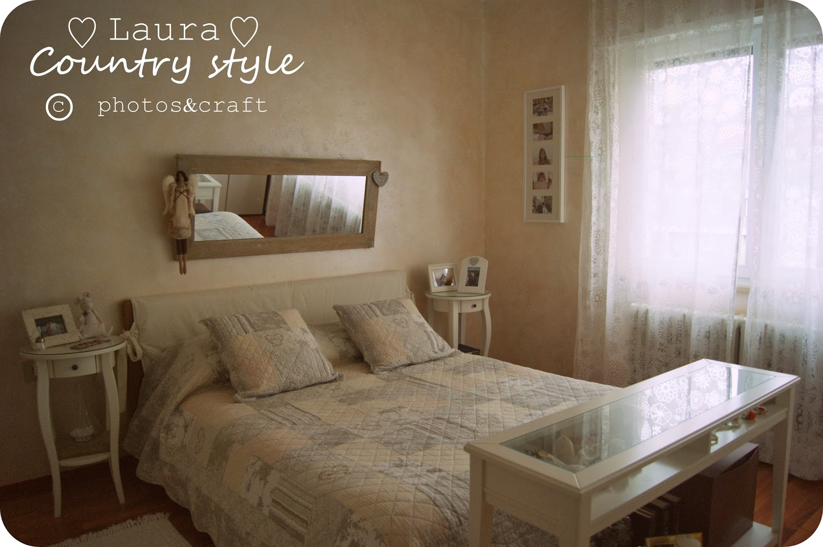 Laura country style my home bedroom for Muri colorati camera da letto