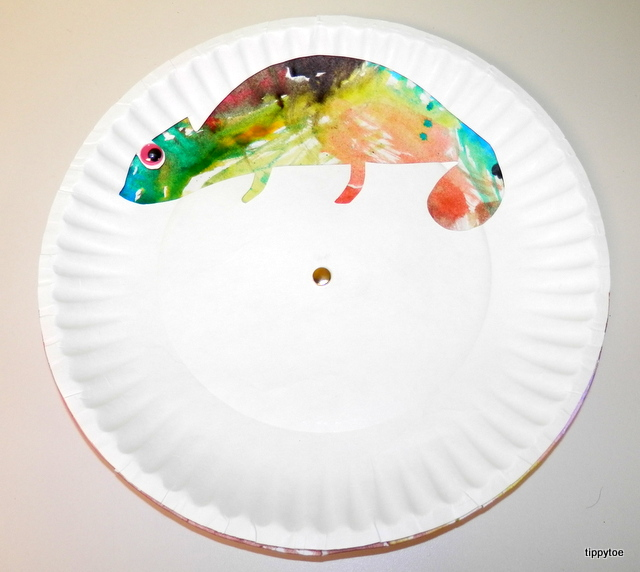 Tippytoe Crafts: Colorful Chameleons