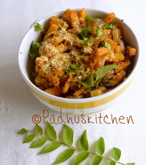 pumpkin curry with wheat germ