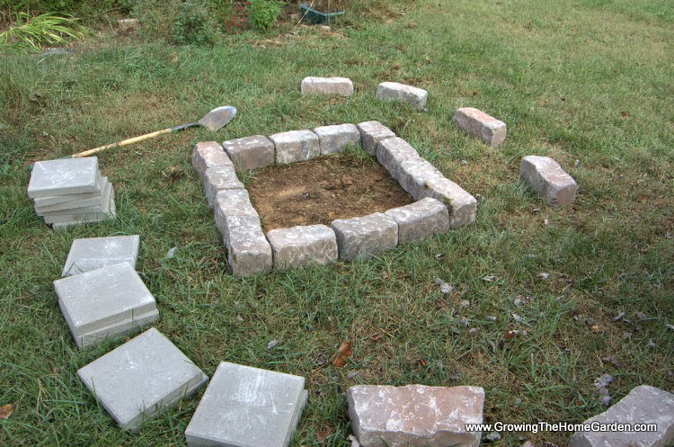 Set the firepit stones around the area