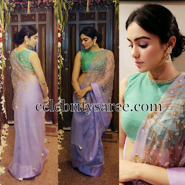 Adah Sharma in Shilpa Reddy Saree