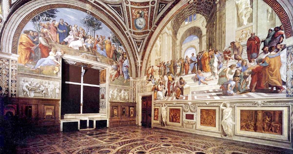 Sauvage27 stanza della segnatura la disputa del for Decorazione stanze vaticane