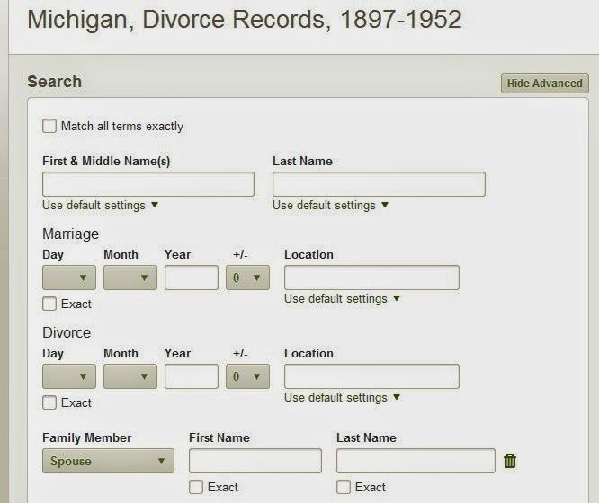 Iowa Divorce Records: MICHIGAN FAMILY TRAILS : MICHIGAN DIVORCE RECORDS 1897-1952